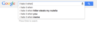Google Search Suggestions
