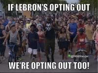 LeBron James Opts Out