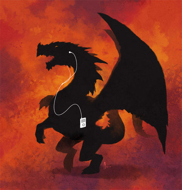 Dragon_and_Ipod_by_nJoo.jpg