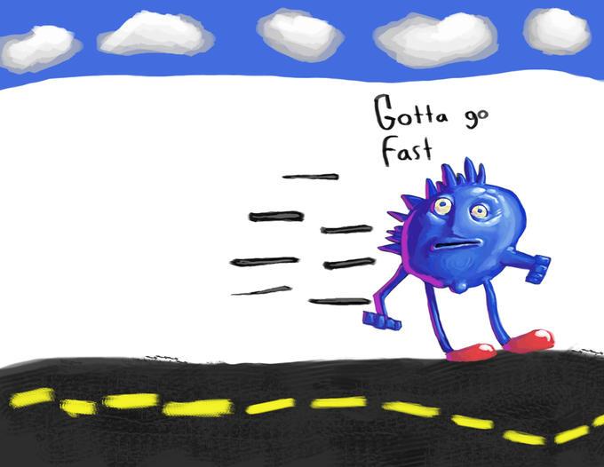 Gotta go fast. Gottagofast1