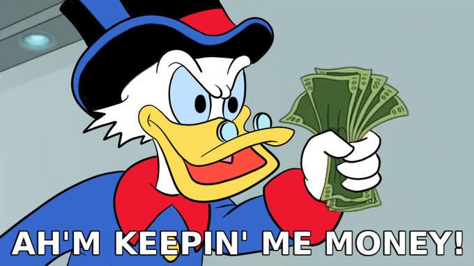 Ah'm Keepin' Me Money