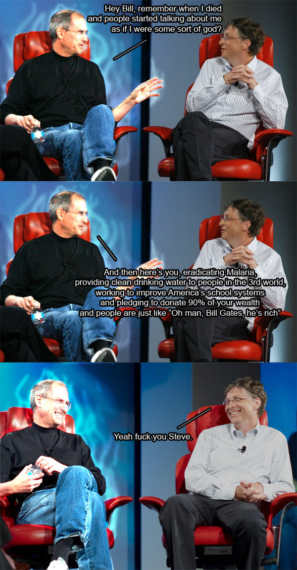 Steve Jobs & Bill Gates on Philanthropy