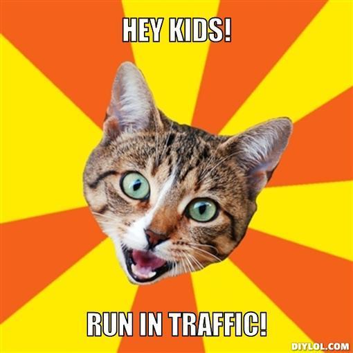 bad-advice-cat-meme-generator-hey-kids-run-in-traffic-43c267.jpg