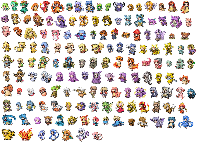 Pokemon Gen 6 Anime Characters : Gijinka 擬人化 humanization know your meme