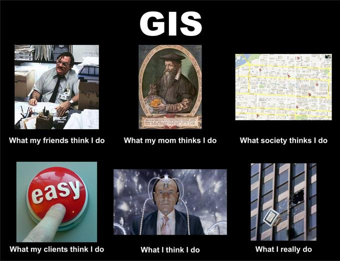 What people think I do - GIS edition