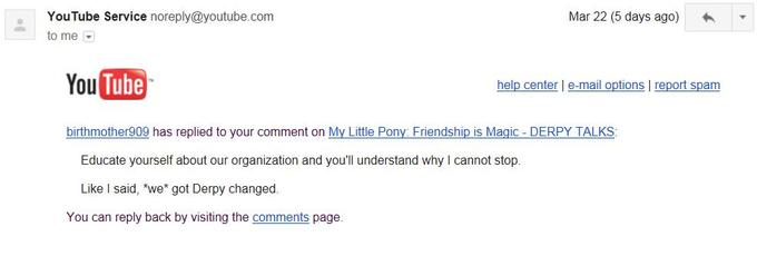 Evidence that Derpy Hooves was targeted by haters. HASBRO IS NOT THE ENEMY