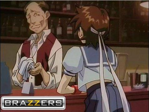 Sakura Kasugano and the bartender