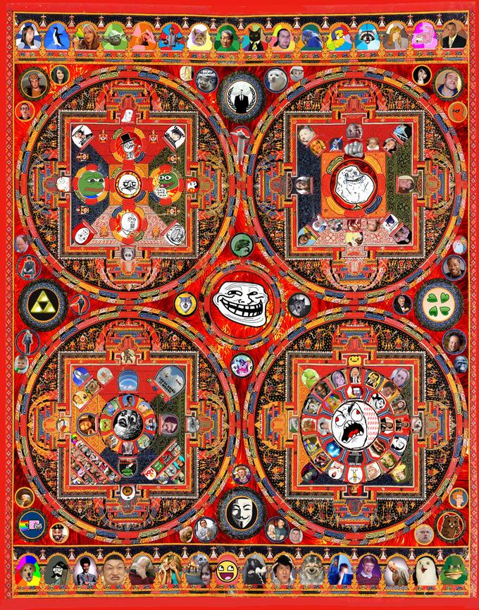 Meme Mandala by Howard Hallis