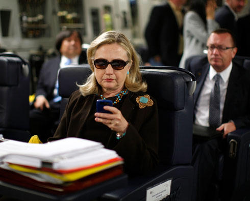 Texts from Hillary original by Reuters photographer Kevin Lamarque