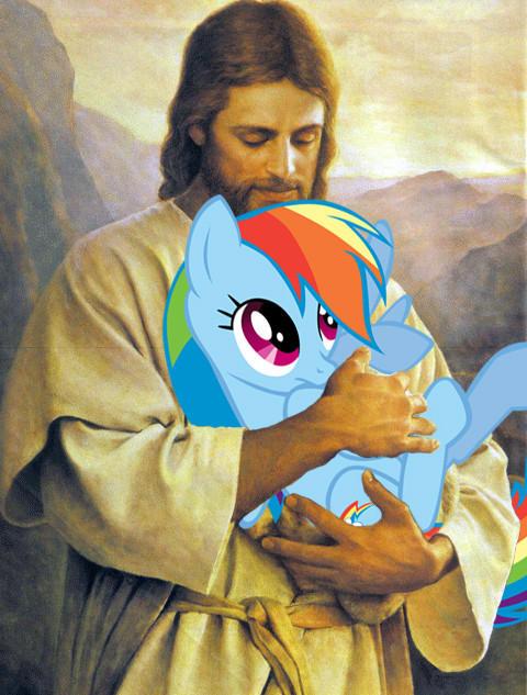 Jesus loves ponies