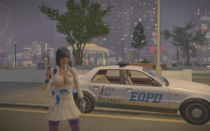 Dj-Pon3 in APB Reloaded - with her car
