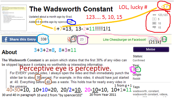 Common Numbers (no relate to Wadsworth Constant)