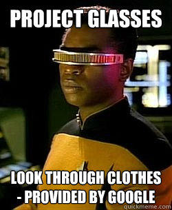 Project Glass - Look through clothes - provided by Google