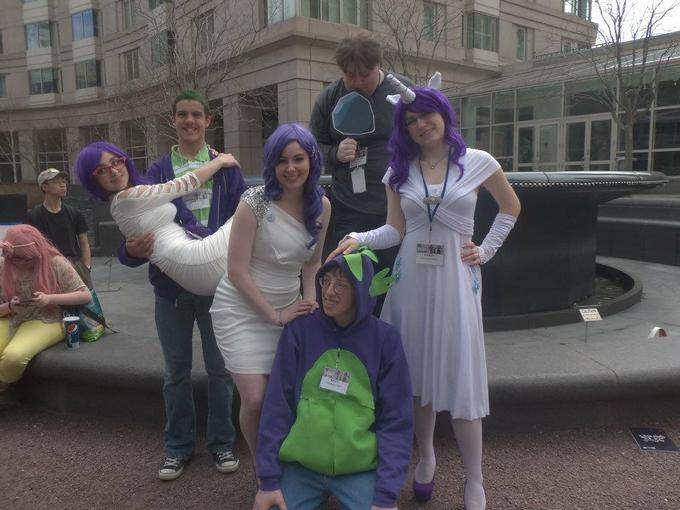 Anime Boston 2012 - Rarity, Spike, Tom