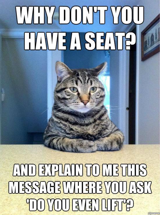 Chris Hansen cat 'Do you even lift?;