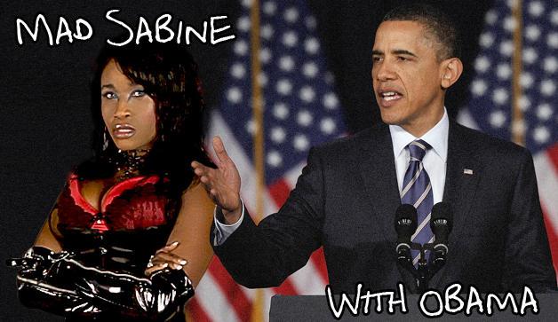 Mad Sabine Mondestin With Obama
