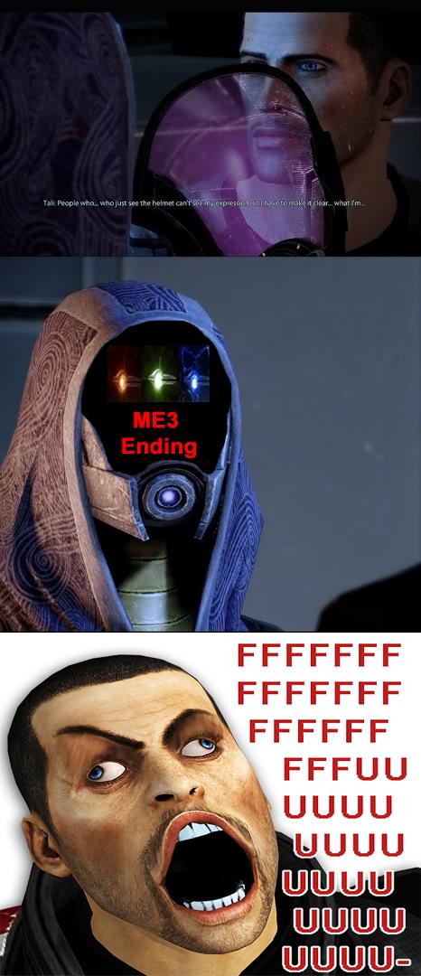 Tali Face Reveal ME3 Ending