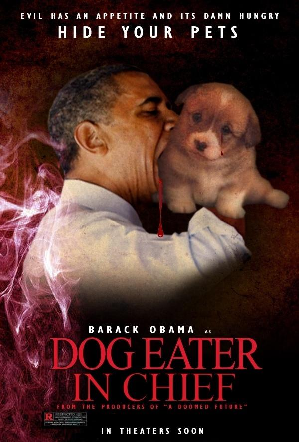 Obama Dog Eater In Chief