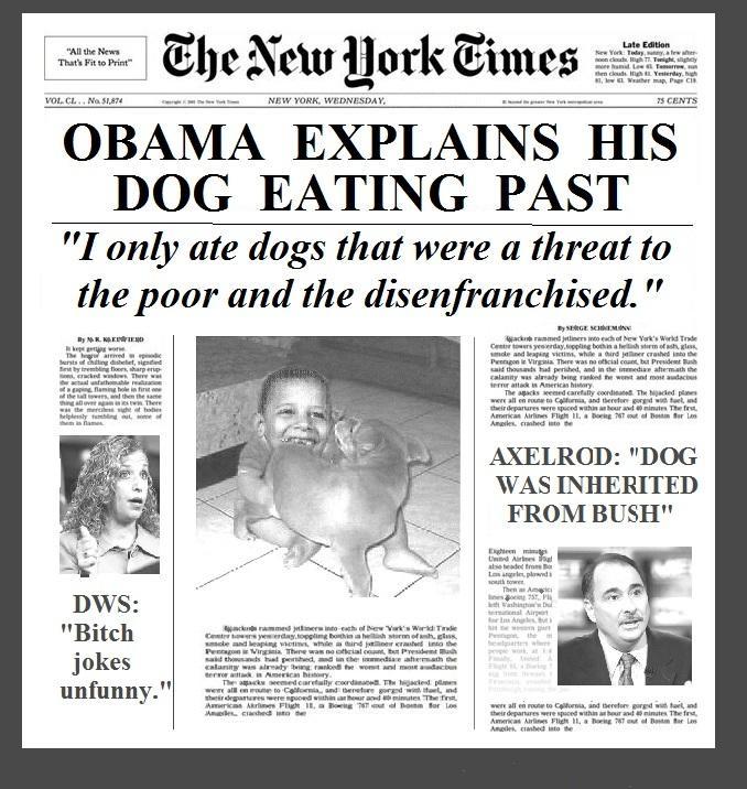 Obama Dog Eating Explained Headline
