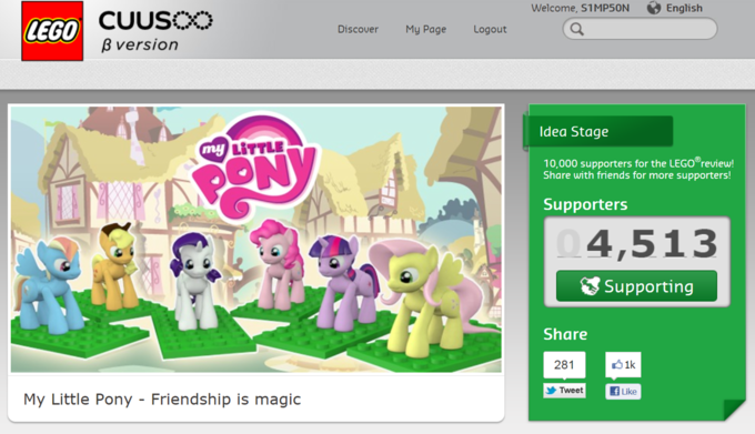 MLP:FIM Lego CUUSOO project update