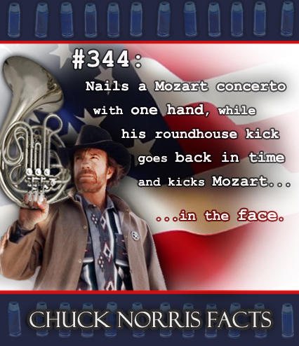 Chuck Norris and the French horn facts