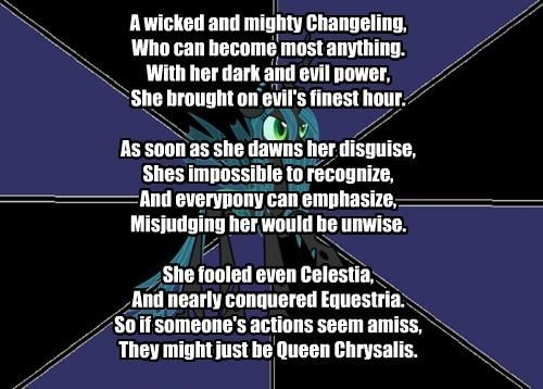 My Little Poetry: Queen Chrysalis