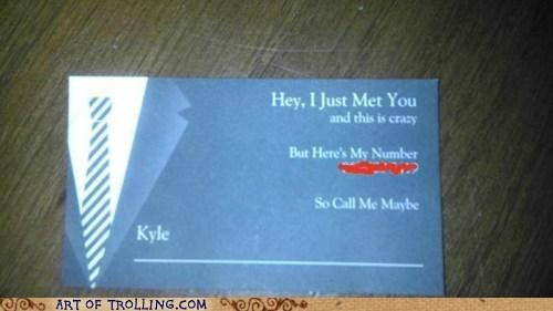 Call Me Maybe Business Card
