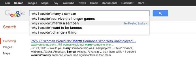 Poor, poor Samoans... no.  Literally.