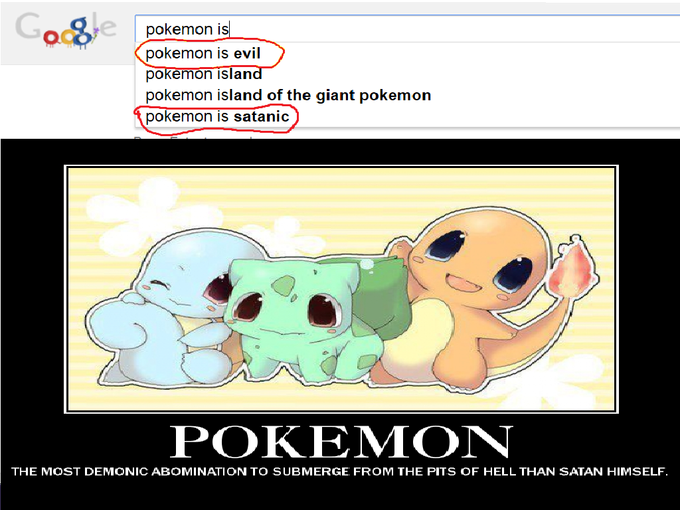 Pokemon is evil/satanic