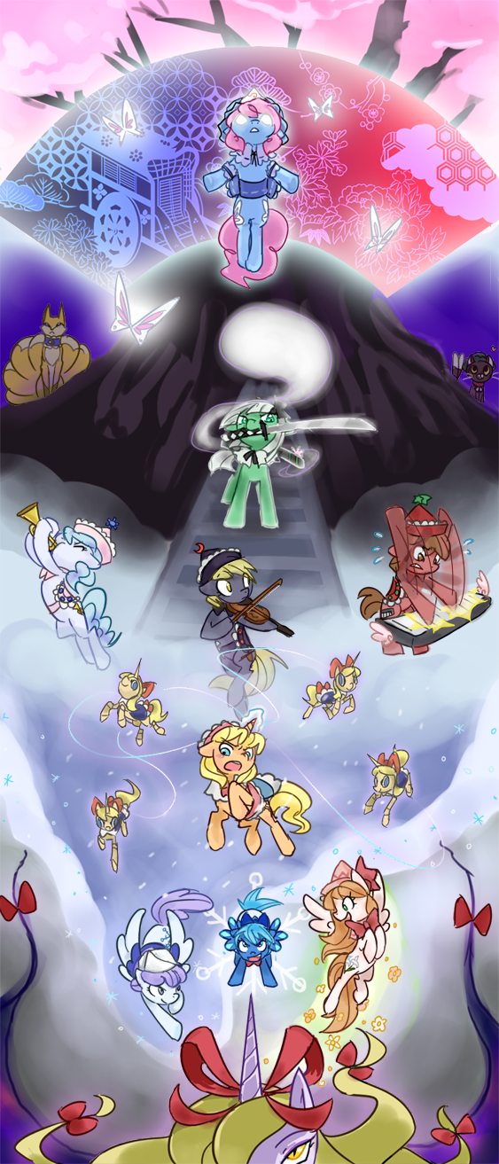 Touhou characters ponified