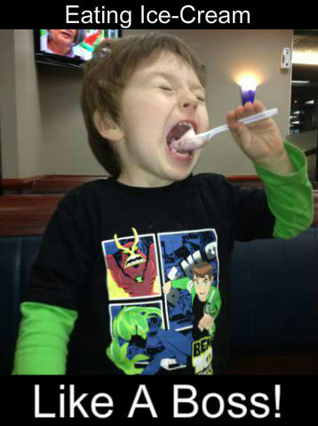 Eating Ice-Cream Like a Boss!