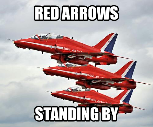 Red Arrows, Standing By