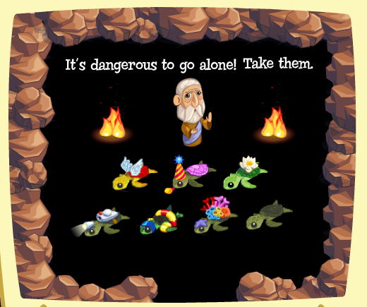 "Zynga's ""Treasure Isle"" - ""It's dangerous to go alone! Take them."""