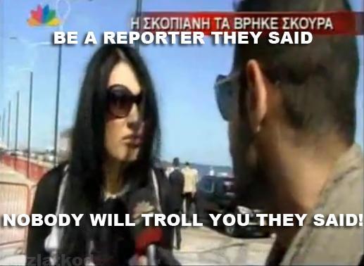 Kaliopi trolls a greek reporter troll