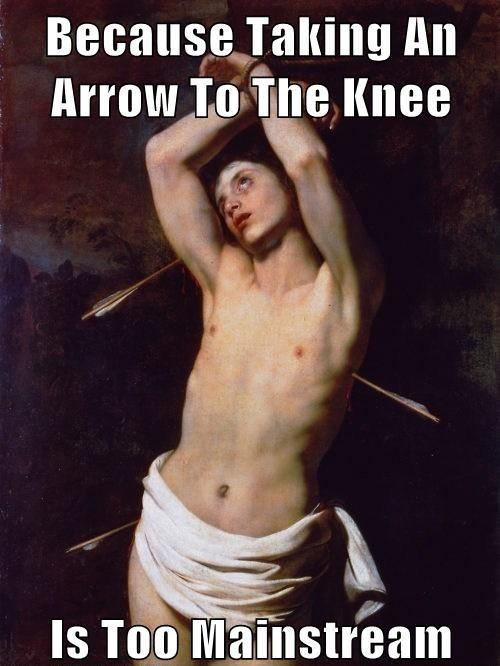 Saint Sebastian the hipster Martyr