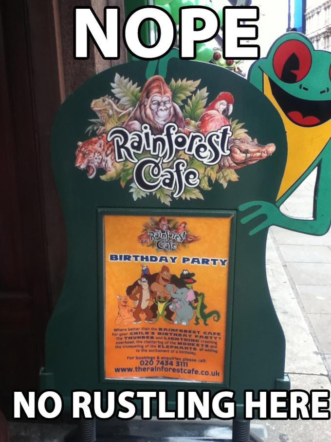 Rainforest Cafe Rustling