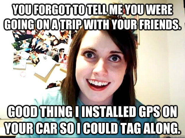 She Installed GPS