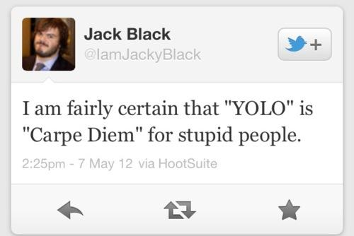 Jack Black on YOLO