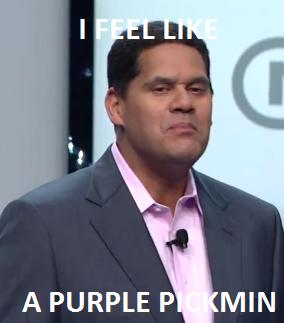 A purple pickmin