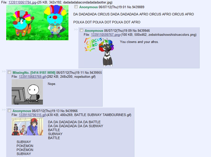 Screencap: /vp/ Afro Circus Thread