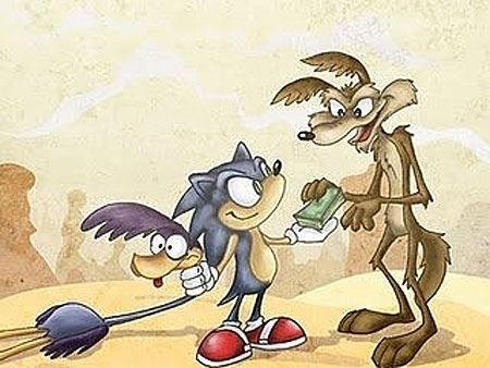 Road Runner meets Sonic
