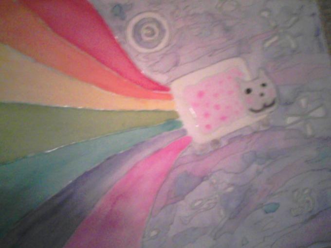 Nyan in Watercolor