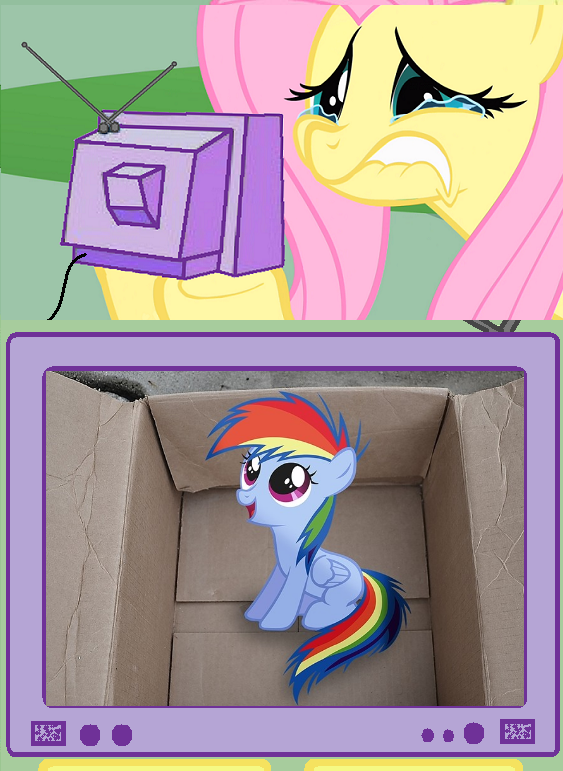 Fluttershy watches My little Dashie