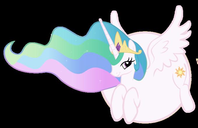 Celestia is a balloon pony