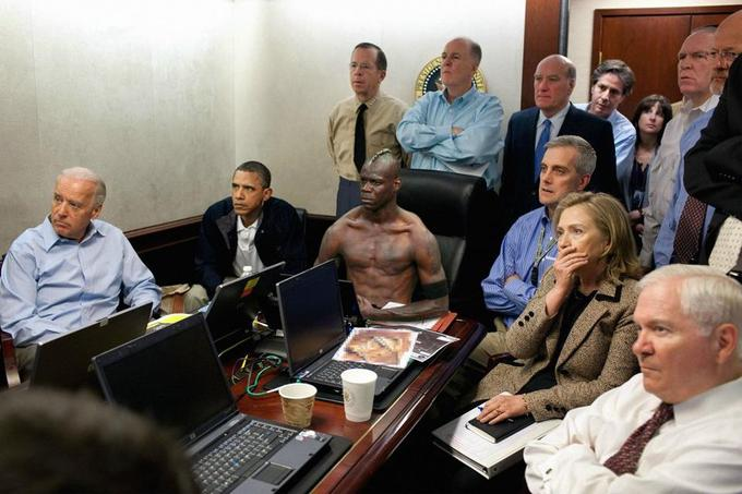 Balotelli with Obama and co