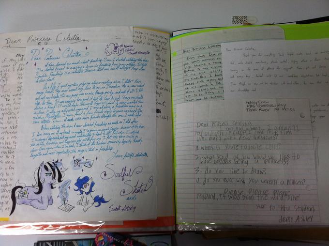 Compilation of letters to Princess Celestia (Lauren Faust)