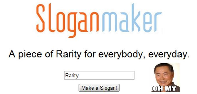 Sloganmaker has a dirty sense of humor