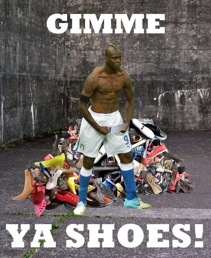 Balotelli - Gimme ya SHOES!