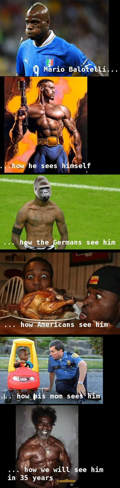 How the World sees Balotelli