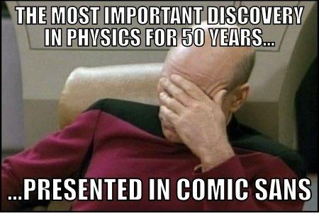 Facepalm Higgs-boson announcement